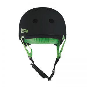 casco-leben-negro-verde-frente